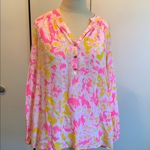 Lilly Pulitzer 100% silk tunic top.